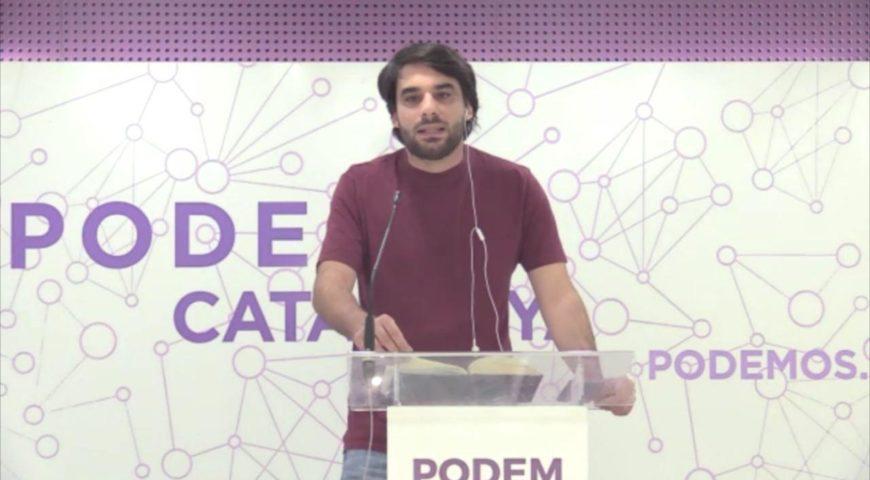 """Lucas Ferro: """"El marc plebiscitari respon a la por de JxCat de quedar fora del pròxim Govern de la Generalitat"""""""